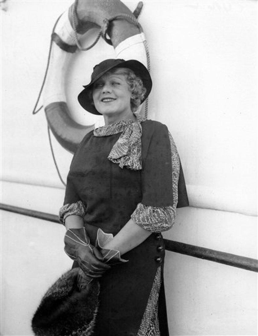 Světově zánámá sopranistka Maria Jeritza na americ
