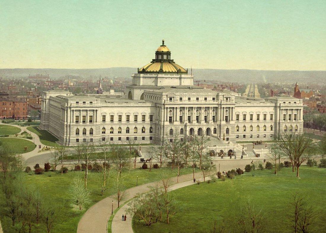 Budova Kongresové knihovny ve Washigtonu D.C. v ro