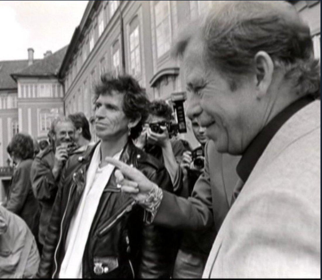 Rolling Stones s Václavem Havlem