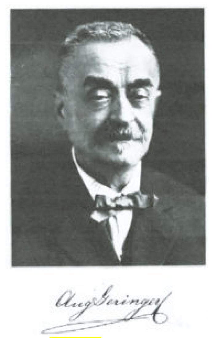 Portrét a podpis Augusta Geringera