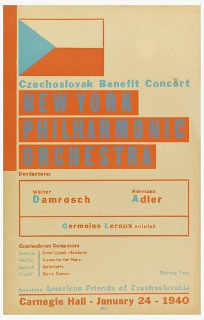 Carnegie hall Československý benefiční koncert