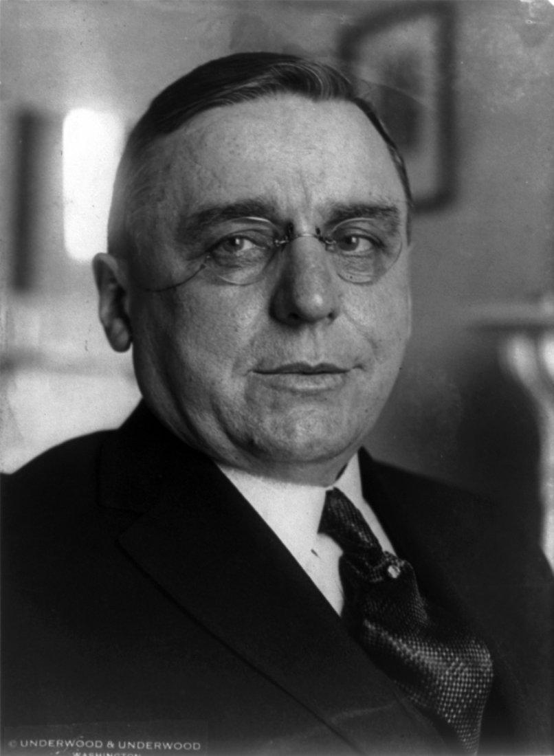 Portrét bývalého starosty Chicaga Antonína Čermáka