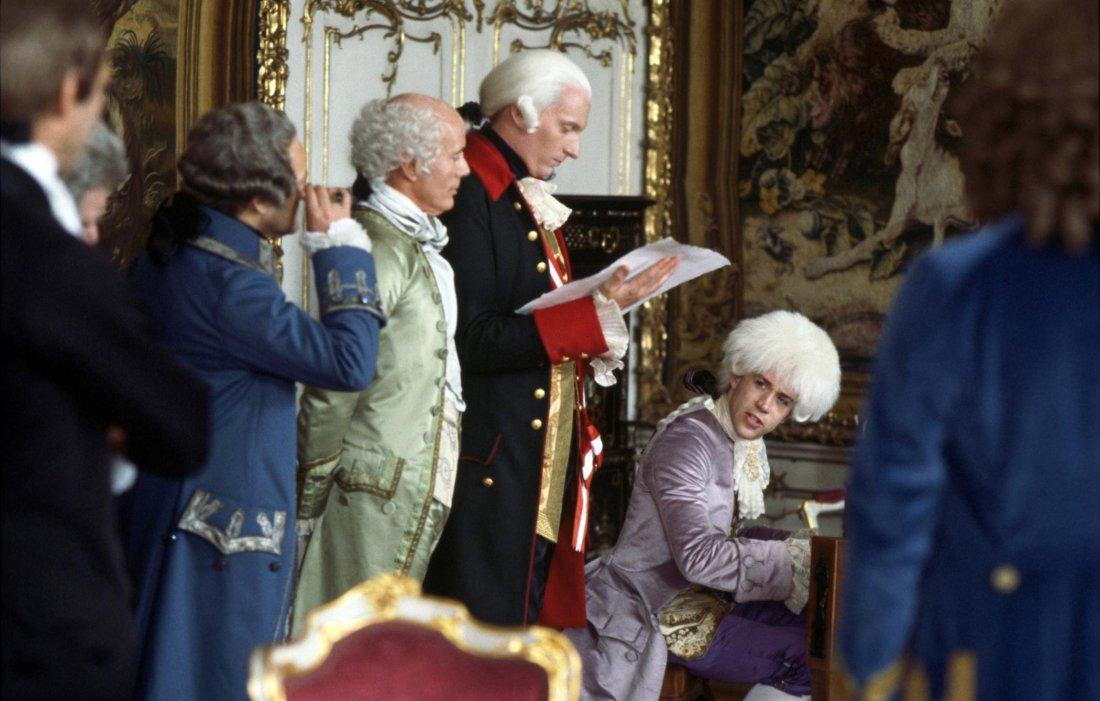 Kostýmy Theodora Pištěka ve filmu Amadeus.