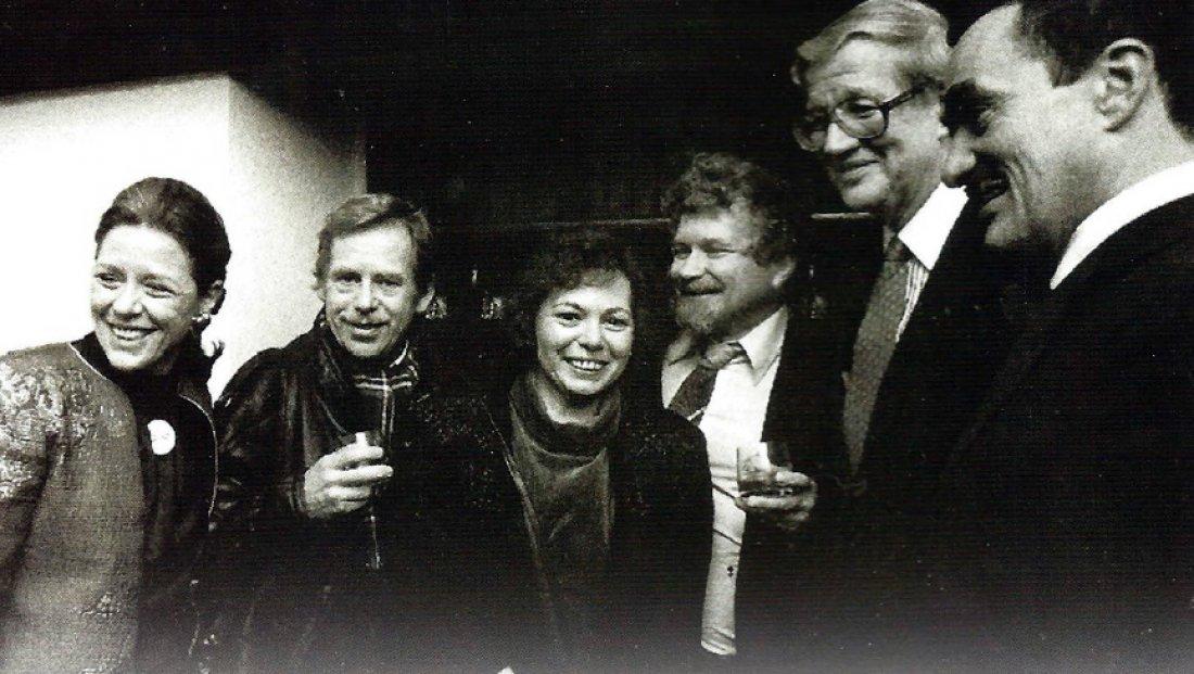 Setkání manželů Luersových s Václavem Havlem v Pra