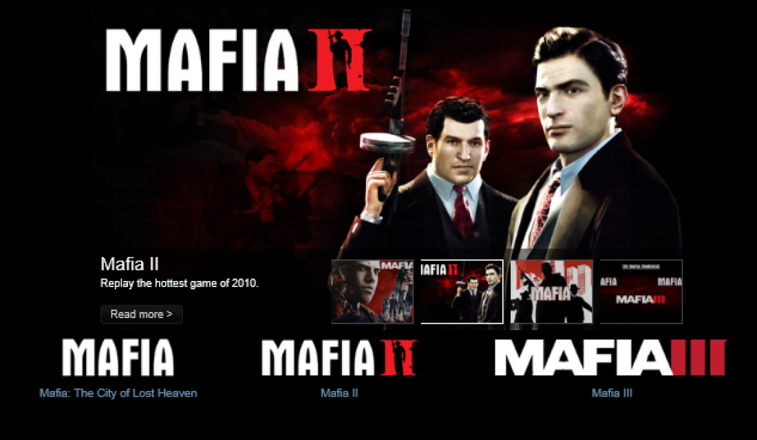 Populární počítačová hra Mafia.