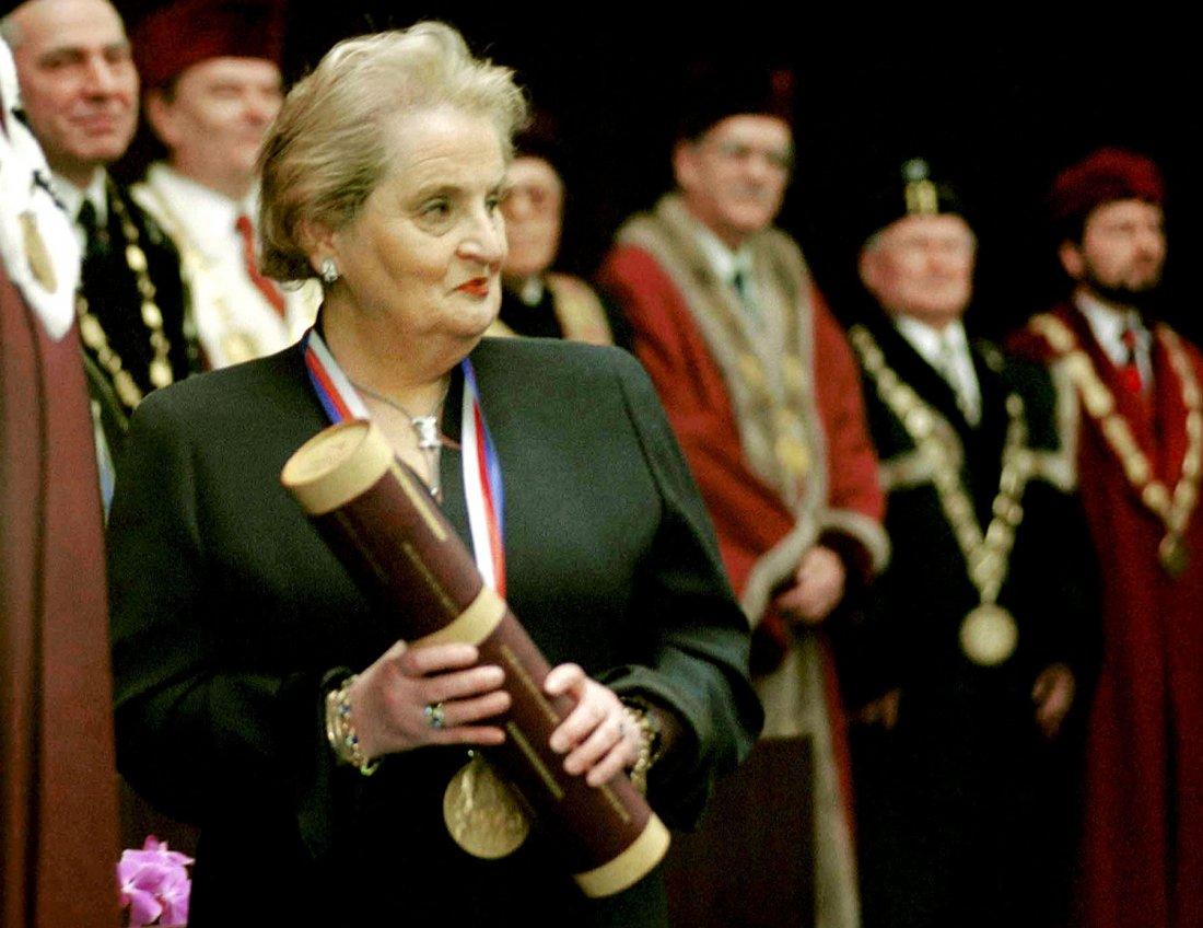 Americká ministryně zahraničí Madeleine Albrightov
